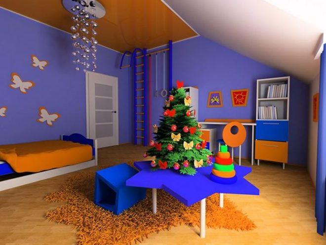 Новогодний дизайн комнат в 2020