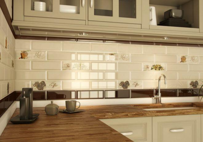 Кухня в кафеле картинки