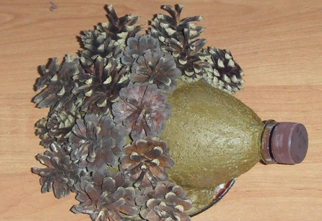 Как сделать ёжика из природных материалов - быстро и красиво