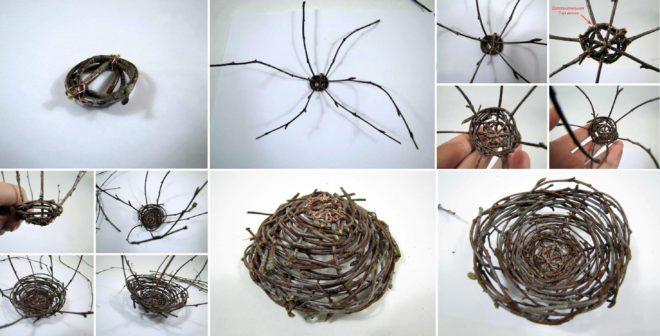 Делаем гнездо из веток своими руками