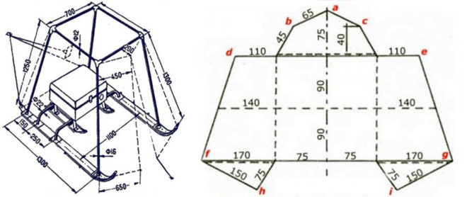 Как сделать зимнюю палатку для рыбалки - чертежи и лучшие проекты