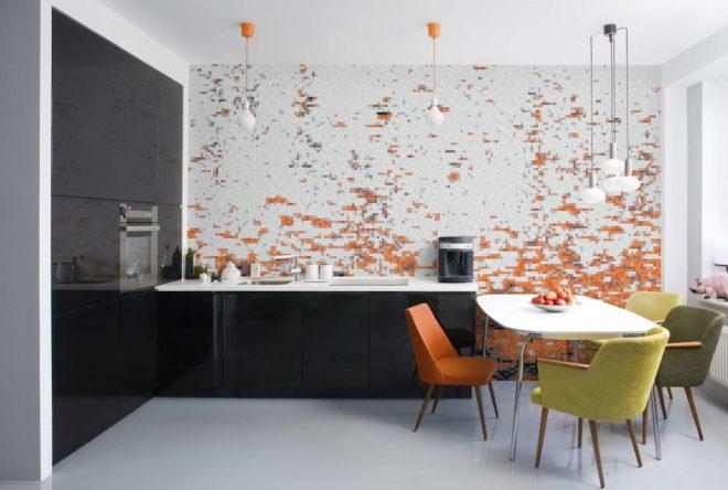 Только плитка - идеи для отделки кухонного фартука