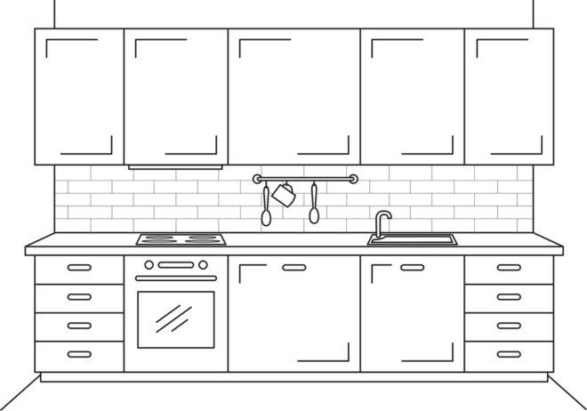 Прямые кухни - новинки дизайна 2020