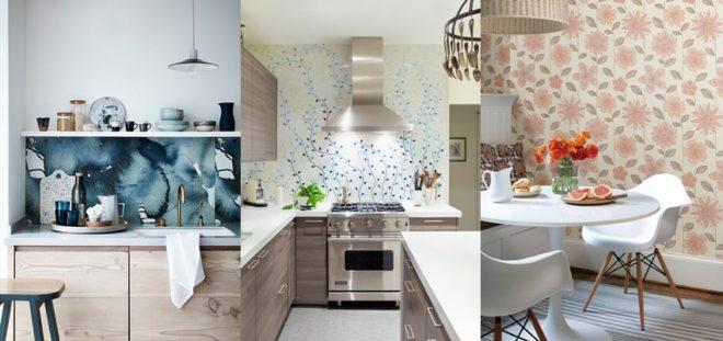 Какие обои для кухни в моде - новинки 2020