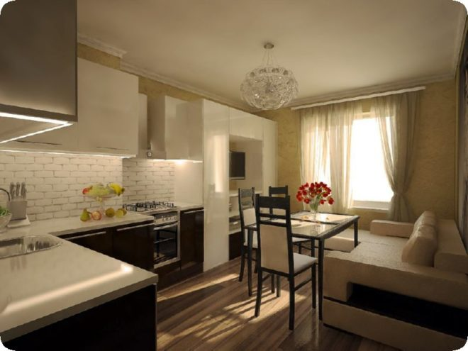 Кухня 15 кв.м с диваном — новые варианты планировки и дизайна