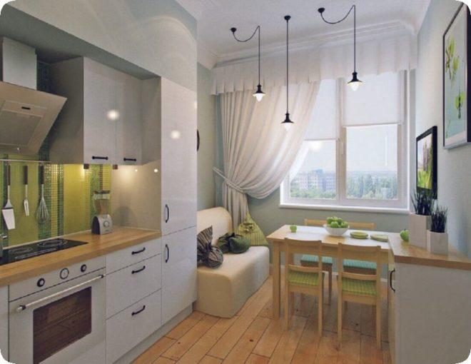 Кухня 15 кв.м с диваном - новые варианты планировки и дизайна
