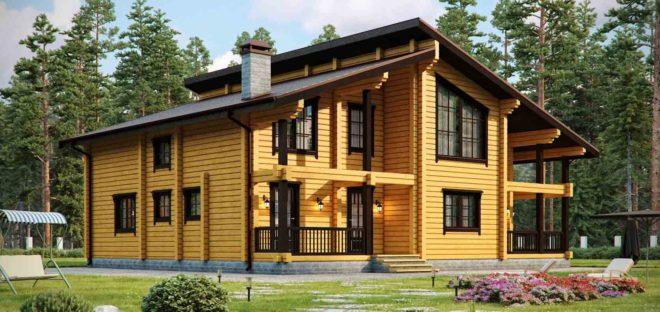 Дома из профилированного бруса 200х200 — современные проекты
