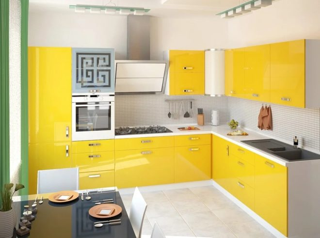 Желтый в интерьере