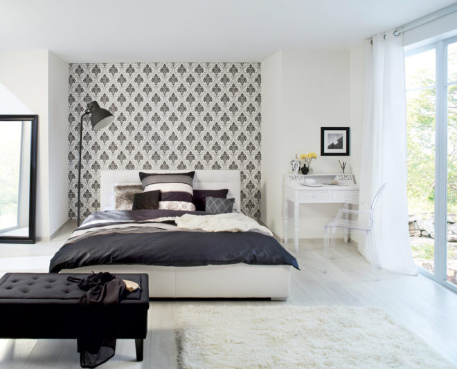 Комбинированные обои для спальни - новое решение 2020