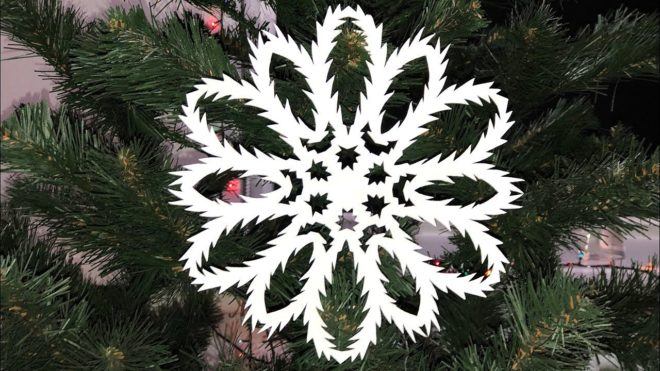 Легкие снежинки из бумаги - делаем сами