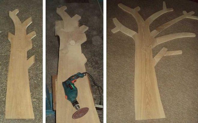 Как сделать настенную вешалку для прихожей из дерева