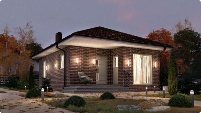 Одноэтажные дома из пеноблоков — проекты с планировкой