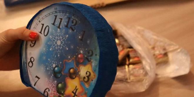 Делаем часы из картона на Новый Год - мастер-класс