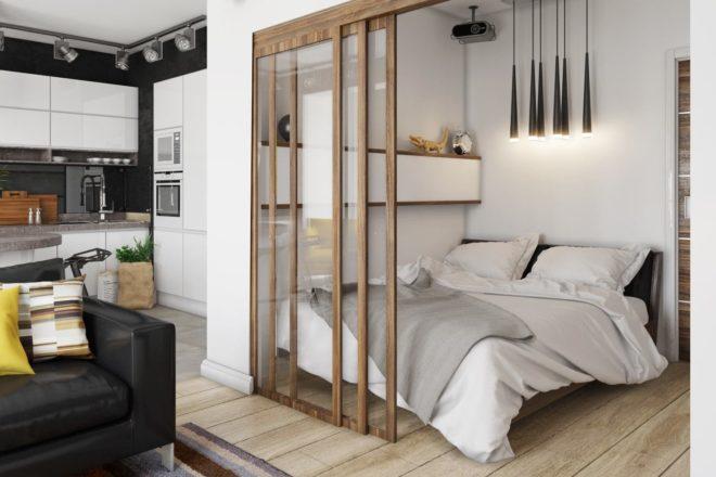 Квартиры студии в светлых тонах - идеи для вдохновения