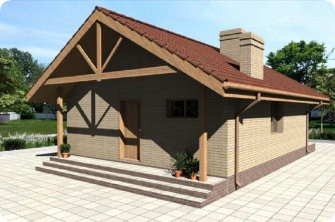 Одноэтажные дома из пеноблоков - проекты с планировкой