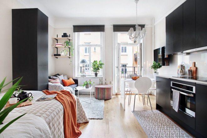 Как сделать ремонт квартиры-студии 25 кв м в современном стиле