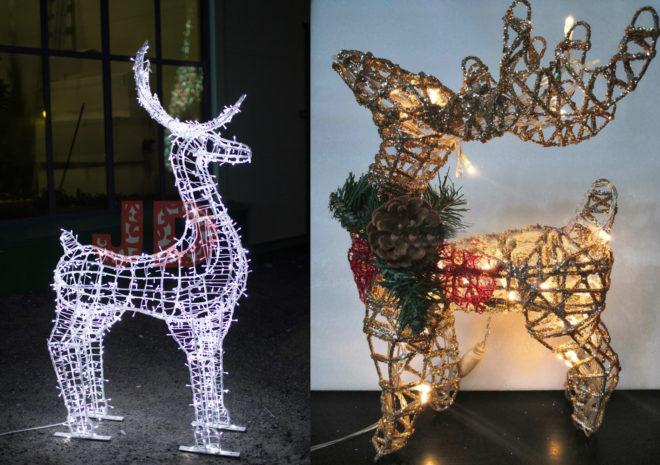 Рождественский олень из проволоки поэтапно