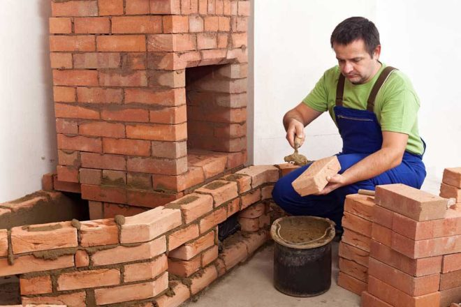 Кладка печи с плитой пошагово своими руками