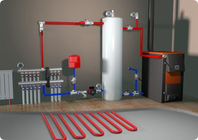 Выбор котла длительного горения для дома с водяным контуром