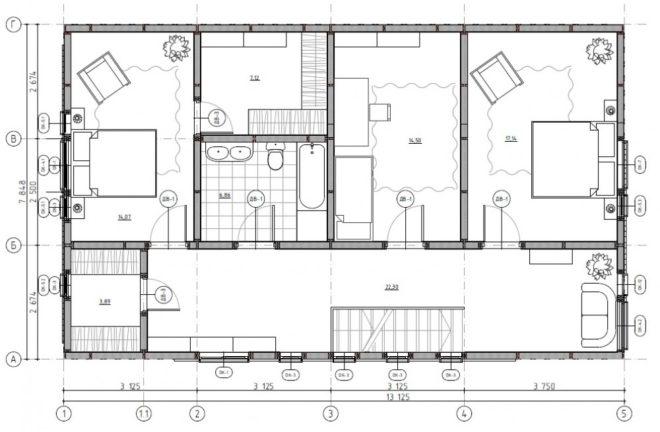 Планировка домов из СИП панелей - готовые проекты
