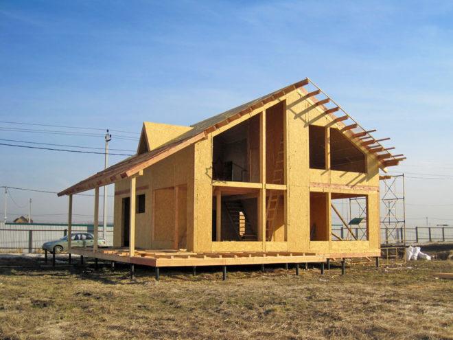 фото строительство каркасных домов и коттеджей