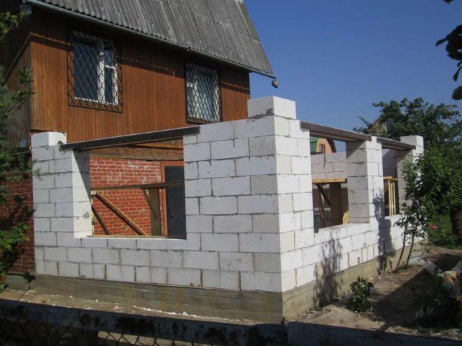 Пристройка к деревянному дому - пошаговое строительство