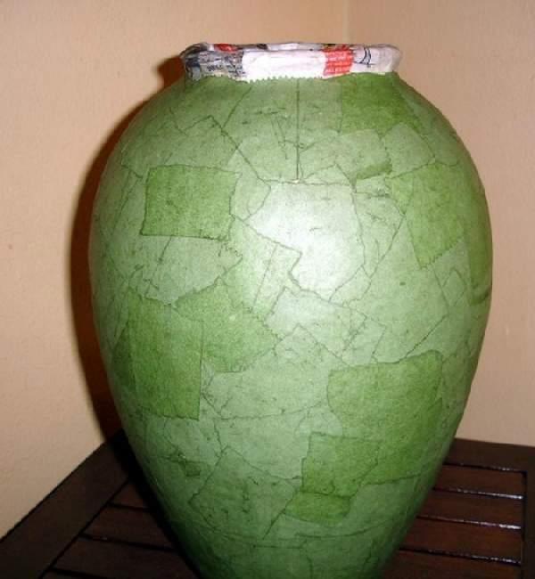 Красивая ваза из картона своими руками
