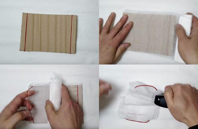 Маска из носового платка без шитья - делаем за 1 минуту