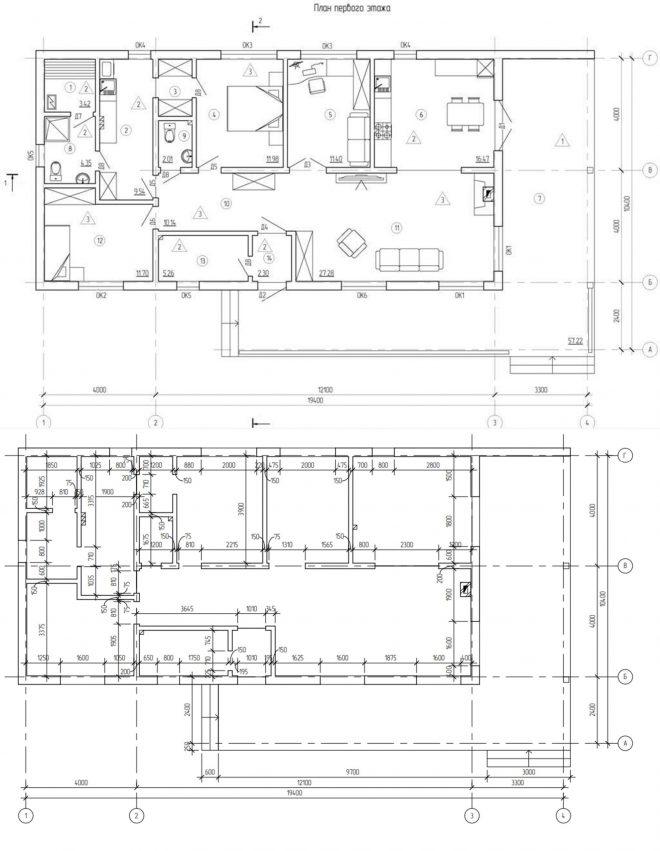 Планировка каркасников до 150 кв. м. для постоянного проживания