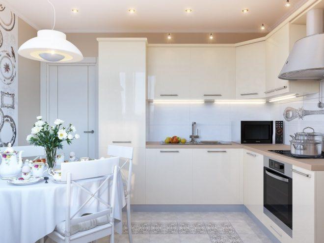 Современный дизайн кухни 10 кв. м.