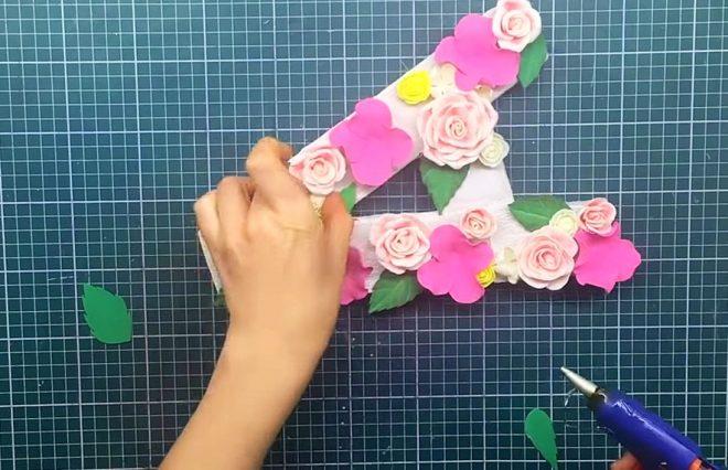 Как сделать буквы из разных материалов — простой способ