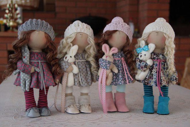 Как сшить тряпичную куклу своими руками