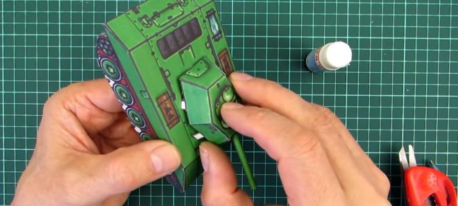 Как сделать макет бумажного танка