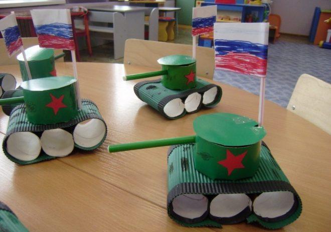 Как сделать военную технику для детей