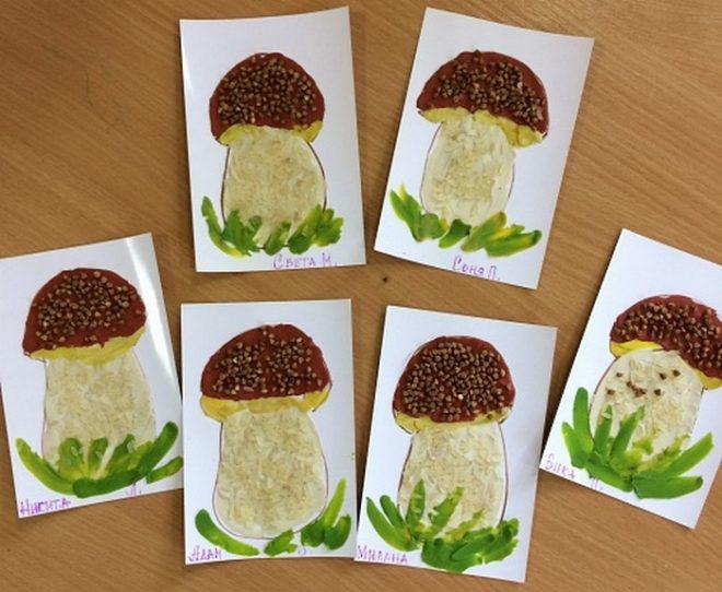 Как сделать поделки для детей из гречки и риса