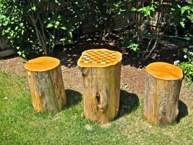 Крутые поделки из дерева для сада и дачи