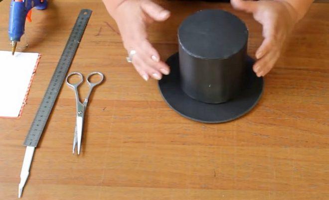Как сделать шляпу цилиндр из картона
