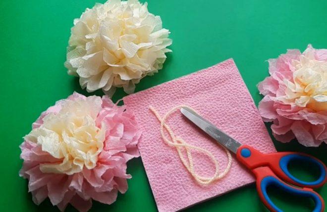 Картинки цветка из салфеток