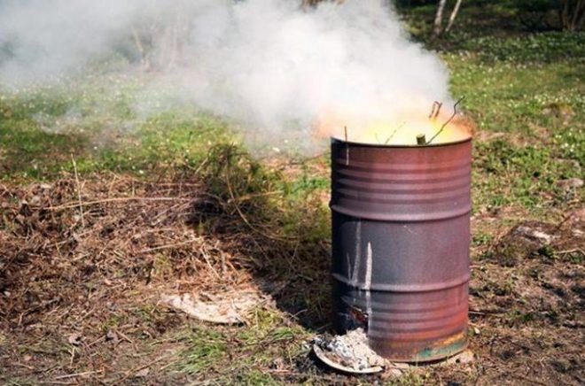 Как сделать бочку для сжигания мусора своими руками
