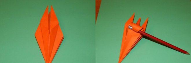 Делаем объемный цветок из бумаги