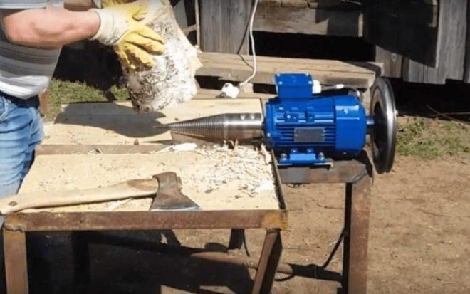 Как сделать механический дровокол