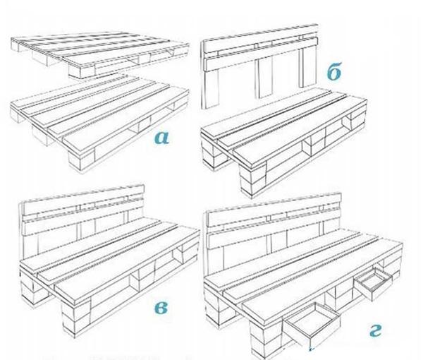 Как сделать мебель из поддонов на дачу