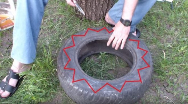 Как сделать клумбы из шин не как у всех