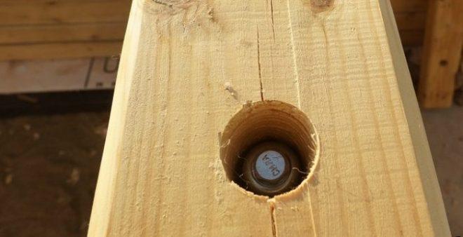 Деревянная стойка для гамака своими руками