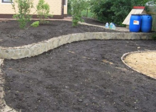 Резиновое покрытие садовых дорожек