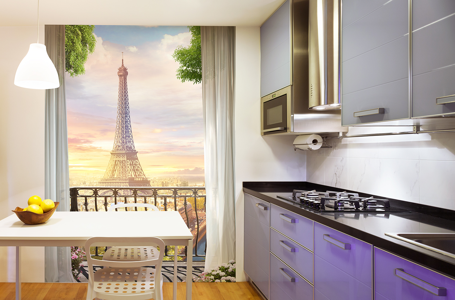 Фотообои 3Д на кухню.