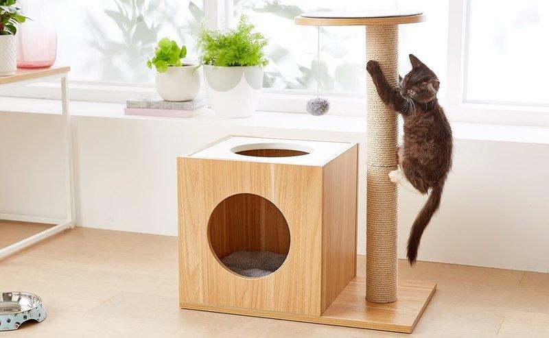 Двухуровневый дом для кота.