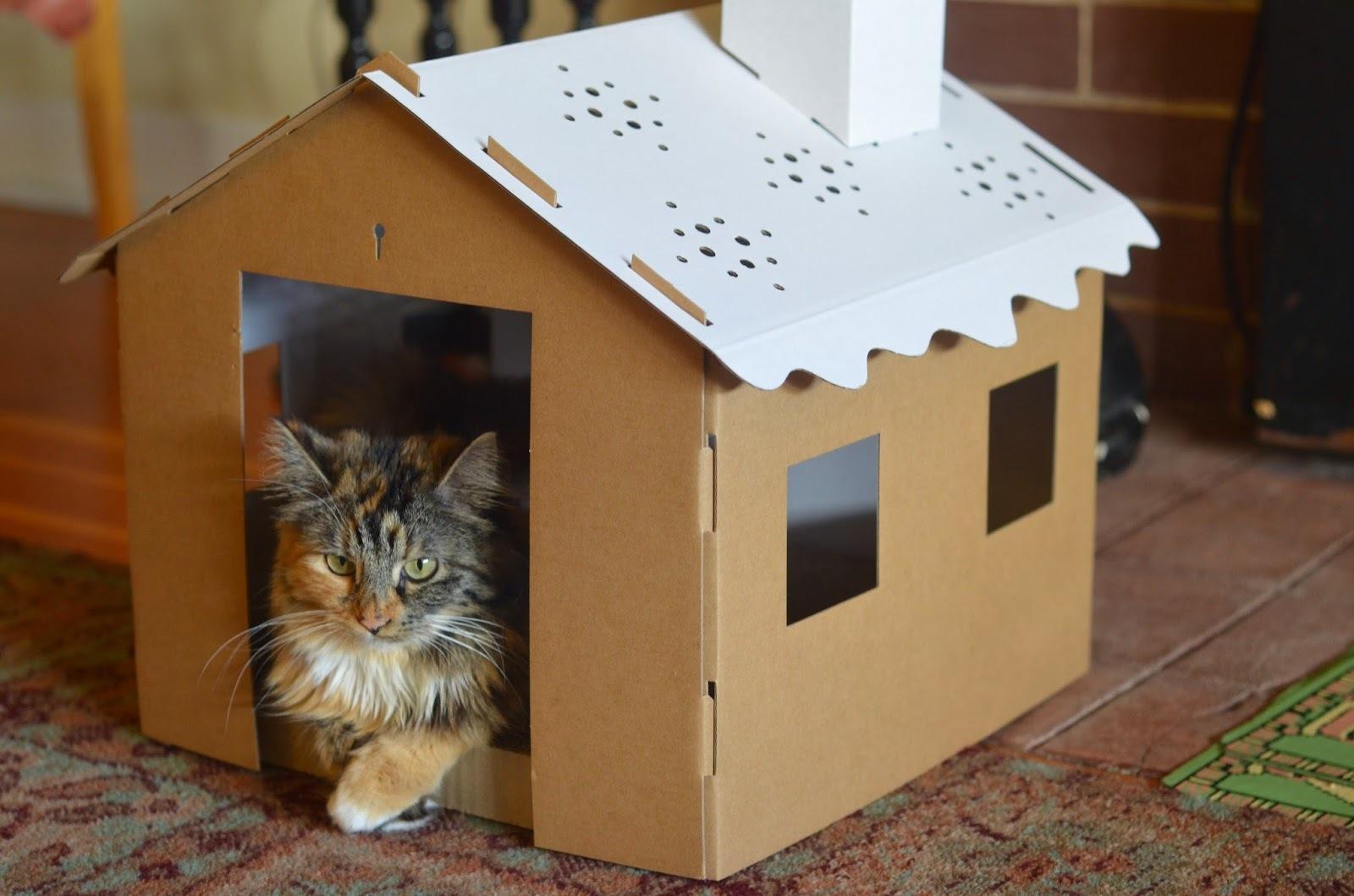 Как сделать дом для кошки своими руками? Поэтапно.