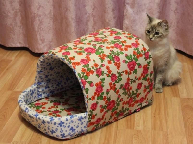 Как сделать домик для кошки из поролона? Инструкция.
