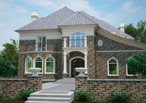 Варианты отделки фасада частного дома — Фото